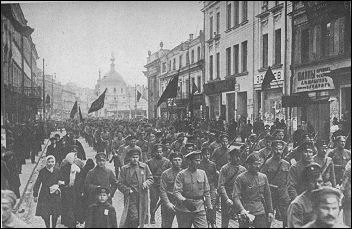 arbeidersbetoging in Petrograd